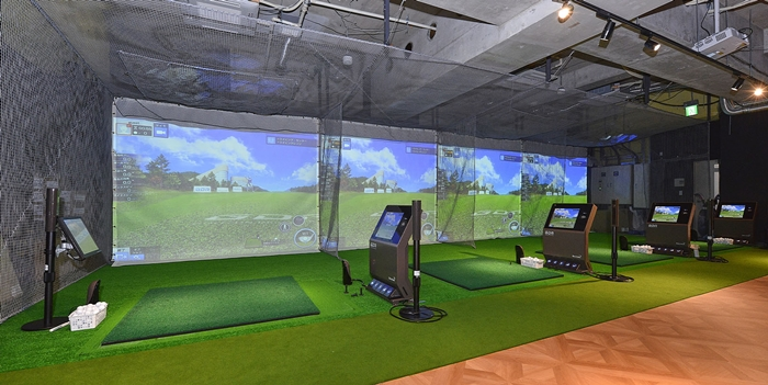 チキンゴルフ新宿店の店内風景